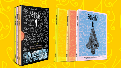 Box com três volumes trazem histórias clássicas de Sherlock Holmes em quadrinhos