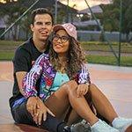 Rafaella Baltar e Luiz Phellipe (autor)
